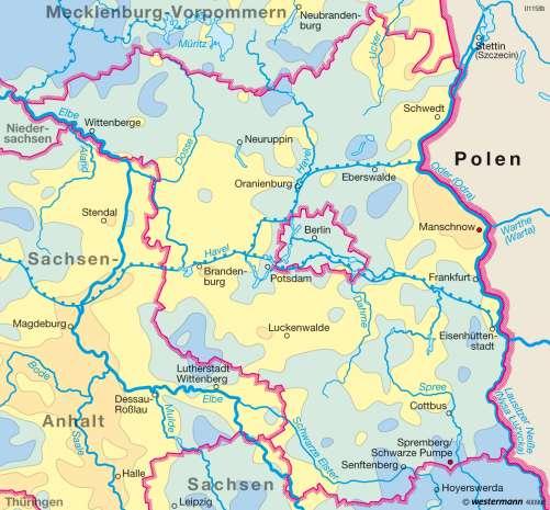 Diercke Karte Niederschläge im Jahr