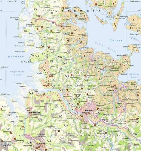 Diercke Karte Schleswig-Holstein / Hamburg - Landwirtschaft