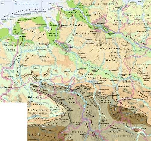 Diercke Karte Landschaften