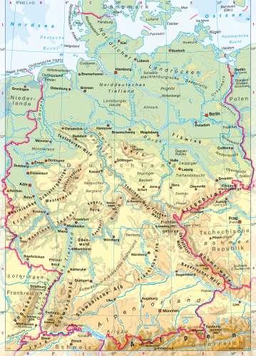 Karte linien deutschland Karte für