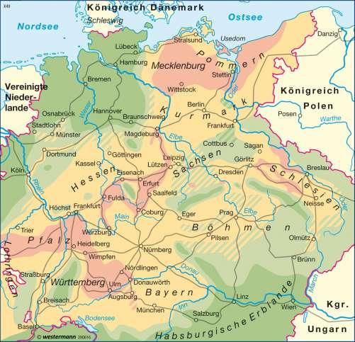 Diercke Karte Bevölkerungsverluste im Dreißigjährigen Krieg