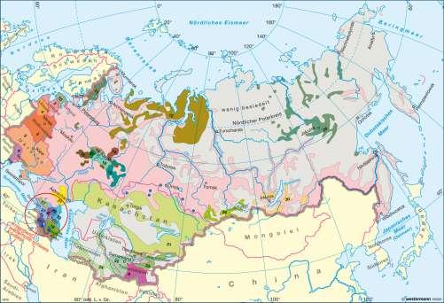 Diercke Karte Vielvölkerstaat UdSSR - Auflösung durch Staatszerfall 1991