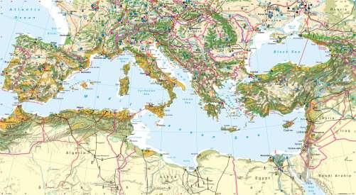 Diercke Karte Southern Europe – Economy
