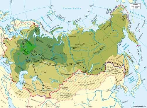 Diercke Karte Russia's emergence as a world power 1462 - 1914