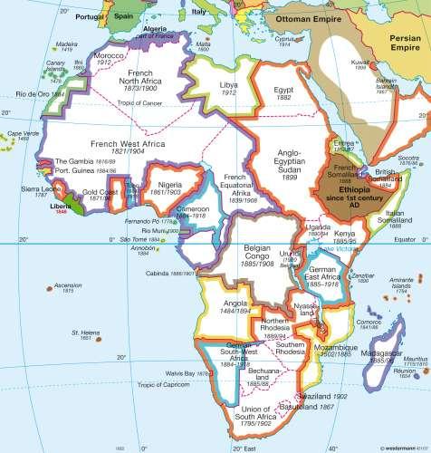 Africa Map 1914 Maps   Africa – 1914/1918   Diercke International Atlas