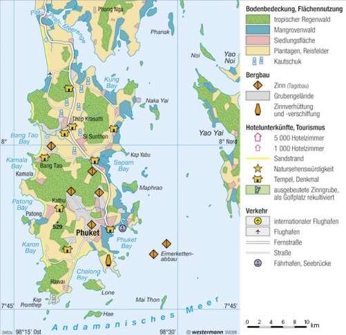 Thailand Karte Welt.Diercke Weltatlas Kartenansicht Phuket Thailand