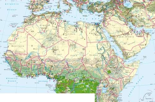 Northern Africa Map Maps   Northern Africa – Economy   Diercke International Atlas