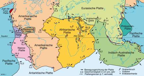 Diercke Weltatlas Kartenansicht Plattentektonik Vulkanismus