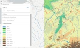 Interaktiven WebGIS-Kartendienst zur Karte Deutschland - Landschaften öffnen und Daten analysieren