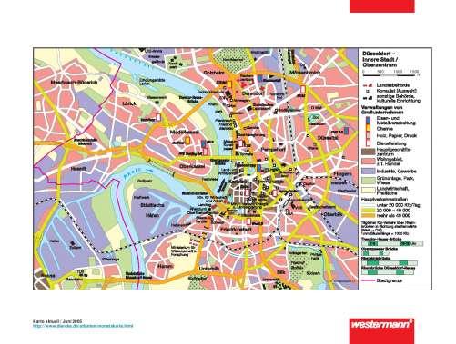 Düsseldorf Stadtteile Karte.Diercke Weltatlas Kartenansicht Düsseldorf Innere Stadt