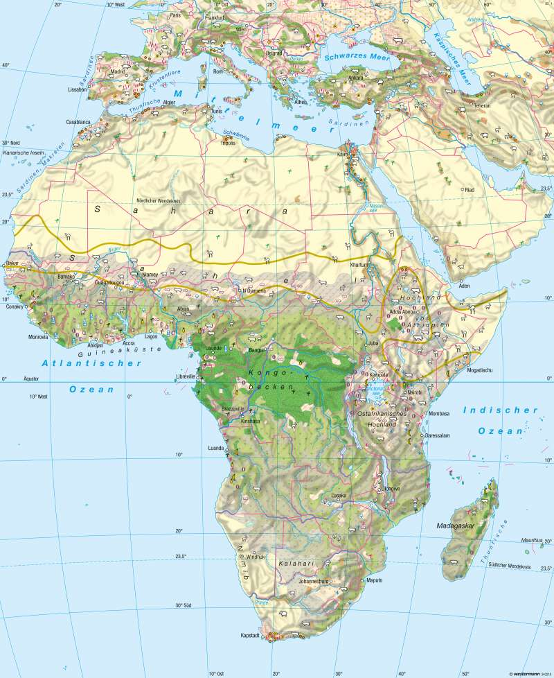 Afrika   Landwirtschaft   Landwirtschaft   Karte 99/5