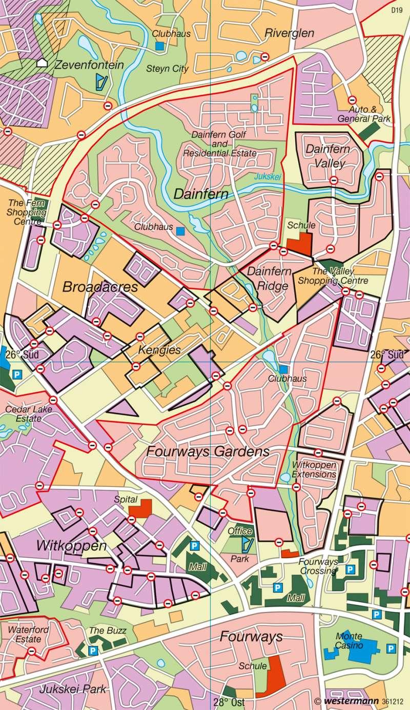 Fourways (Johannesburg) | Fragmentierung | Afrika - Siedlungsentwicklung | Karte 152/3