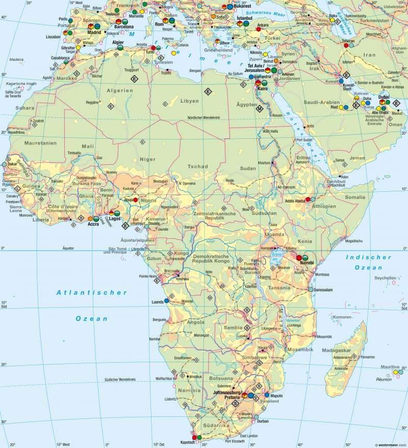 Afrika | Wirtschaft | Afrika - Wirtschaft | Karte 153/5