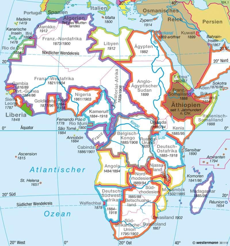 Afrika Karte Deutsch.Diercke Weltatlas Kartenansicht Afrika 1914 1918 978 3 14