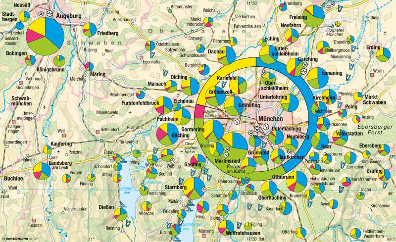 München | Hightech-Standorte | München und Alpenvorland | Karte 51/2