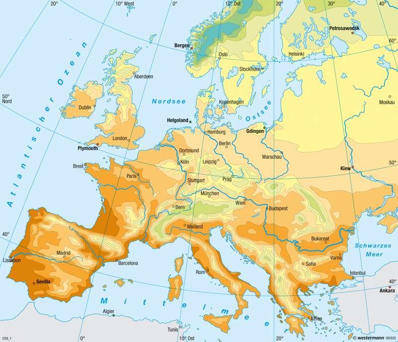 Europa | Frühlingseinzug | Europa - Klima | Karte 95/5