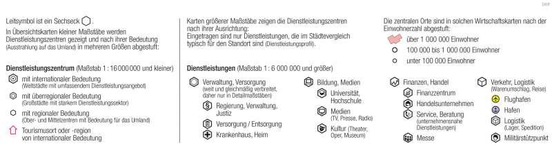   Dienstleistungen   Kartenlesen - Signaturen in der Wirtschaftskarte   Karte 14/6