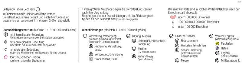 Dienstleistungen      Signaturen in der Wirtschaftskarte   Karte 7/10