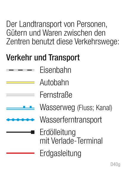 | Verkehr | Kartenlesen - Signaturen in der Wirtschaftskarte | Karte 14/7