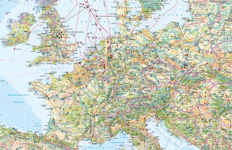 West- und Mitteleuropa   Wirtschaft   Wirtschaft   Karte 72/1