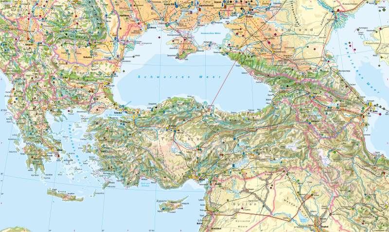 Südosteuropa, Türkei, Kaukasus | Wirtschaft | Wirtschaft | Karte 92/1
