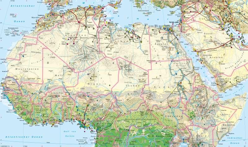 Afrika nördlicher Teil   Wirtschaft   Afrika nördlicher Teil - Wirtschaft   Karte 158/1