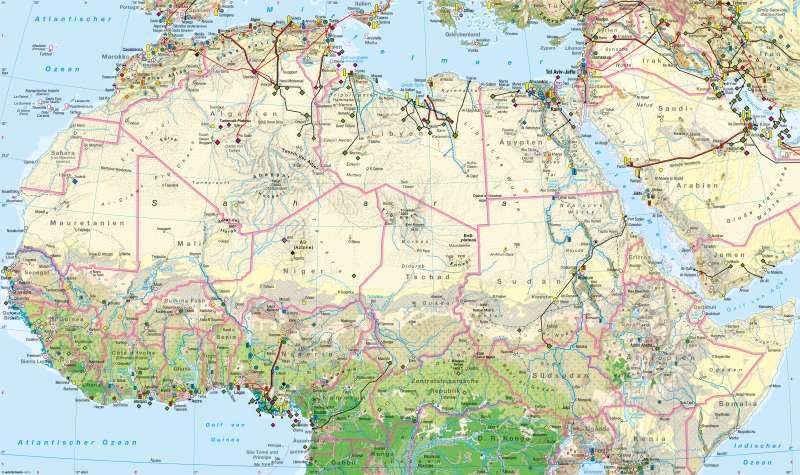 Afrika nördlicher Teil | Wirtschaft | Wirtschaft | Karte 106/1