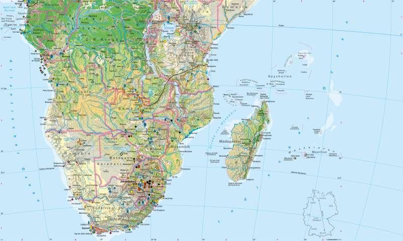 Afrika südlicher Teil | Wirtschaft | Afrika südlicher Teil - Wirtschaft | Karte 160/1
