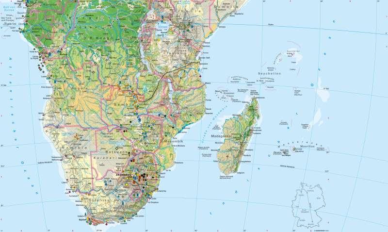 Afrika südlicher Teil | Wirtschaft | Wirtschaft | Karte 108/1