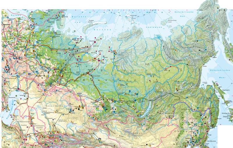 Nordasien | Wirtschaft | Nordasien - Wirtschaft | Karte 170/1