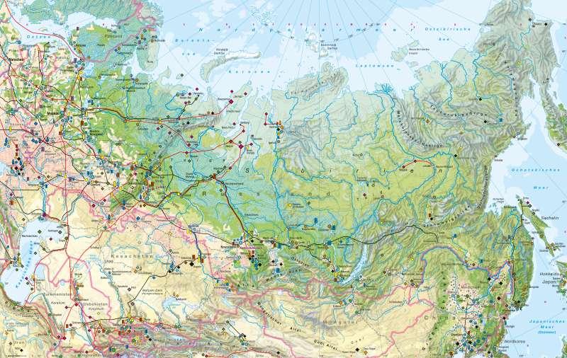 Nordasien | Wirtschaft | Wirtschaft | Karte 118/1