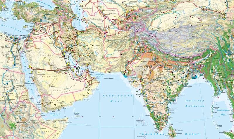 West- und Südasien   Wirtschaft   Wirtschaft   Karte 124/1