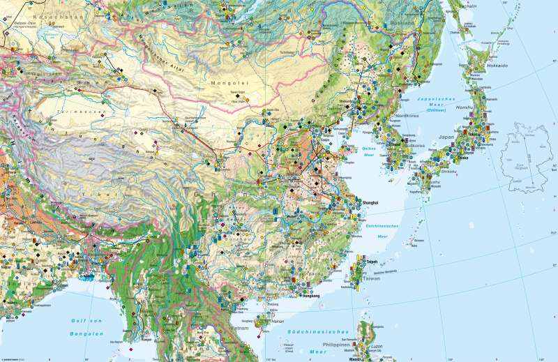 Ostasien (China) | Wirtschaft | Ostasien (China) - Wirtschaft | Karte 186/1