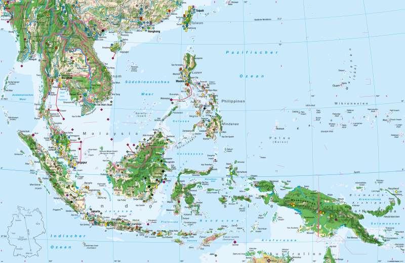 Südostasien | Wirtschaft | Südostasien - Wirtschaft | Karte 196/1