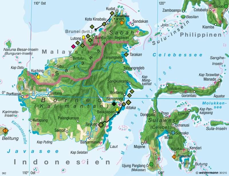 Borneo | Wirtschaft 1980 | Südostasien - Wirtschaft | Karte 197/2