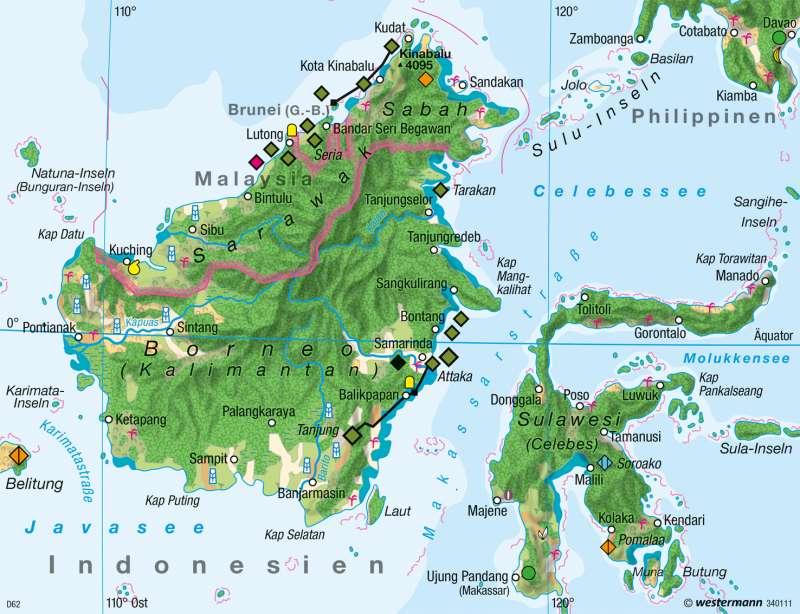 Borneo | Wirtschaft 1980 | Wirtschaft | Karte 137/2