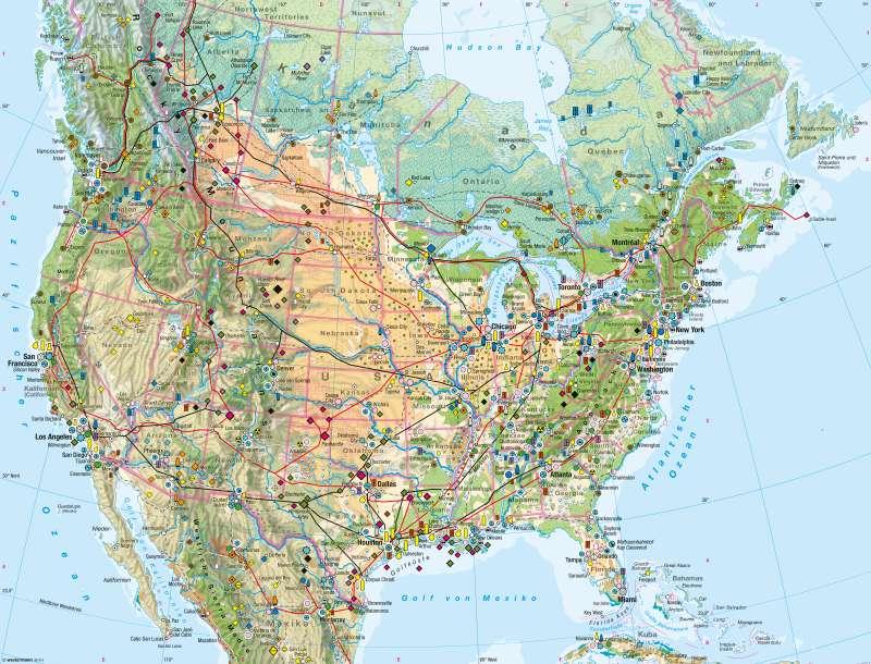 Diercke Weltatlas Kartenansicht Usa Kanada Wirtschaft 978