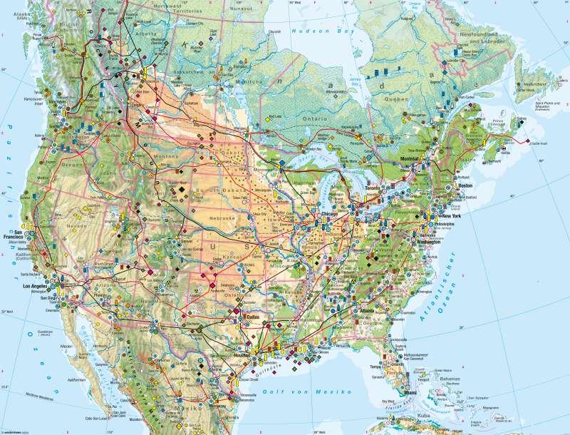 USA, Kanada | Wirtschaft | Wirtschaft | Karte 152/3