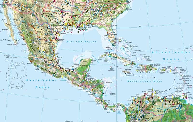 Diercke Weltatlas Kartenansicht Mittelamerika Wirtschaft