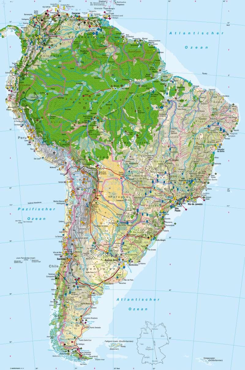 Lateinamerika Karte Länder.Diercke Weltatlas Kartenansicht Südamerika Wirtschaft 978 3