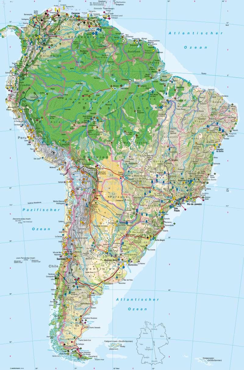 Südamerika   Wirtschaft   Wirtschaft   Karte 164/1