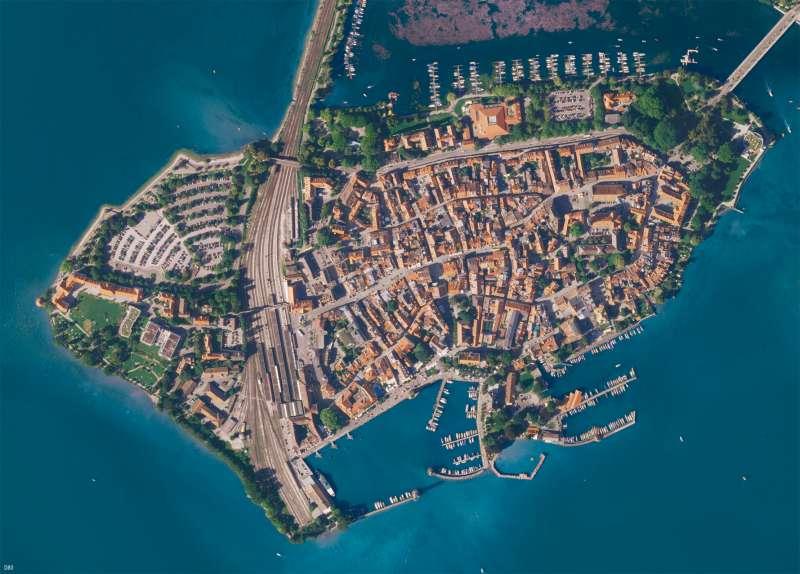 Lindau | Luftbild | Kartenlesen - Vom Bild zur Karte | Karte 12/1