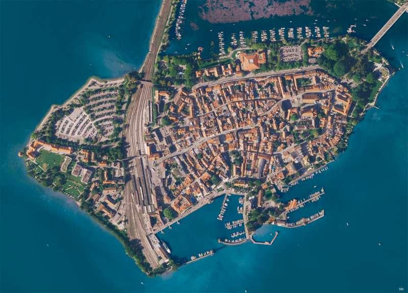 Lindau   Luftbild   Vom Bild zur Karte   Karte 10/1