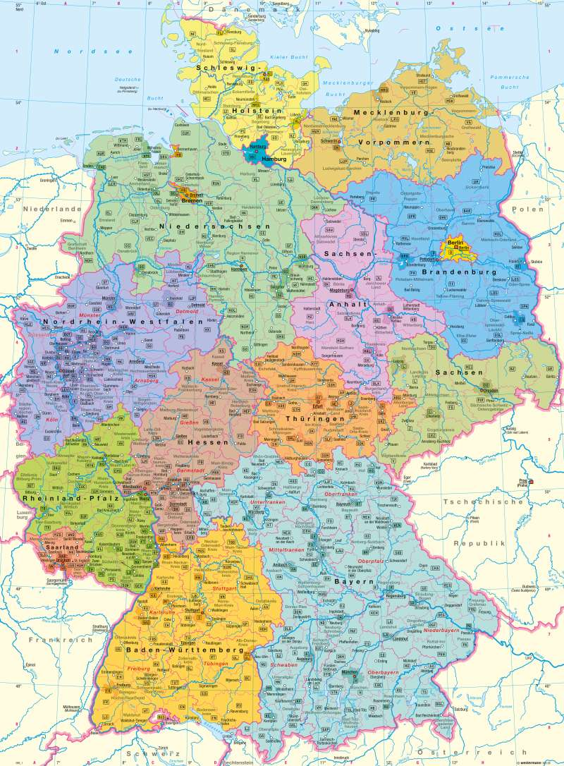 Diercke Weltatlas - Kartenansicht - Deutschland ... - Bundesrepublik Deutschland Bundesländer Karte