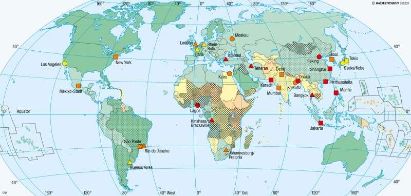 Erde | Verstädterung | Erde - Bevölkerung | Karte 277/4
