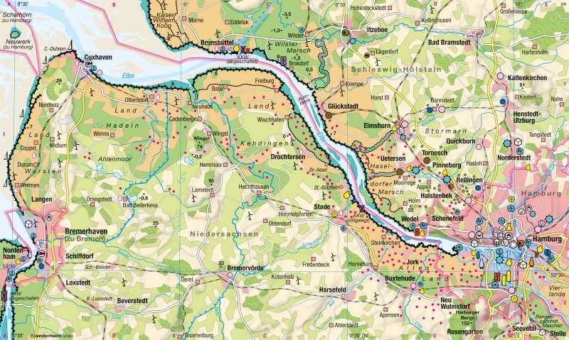 Unterelbe | Wirtschaft | Hamburg - Hafenstadt | Karte 34/1