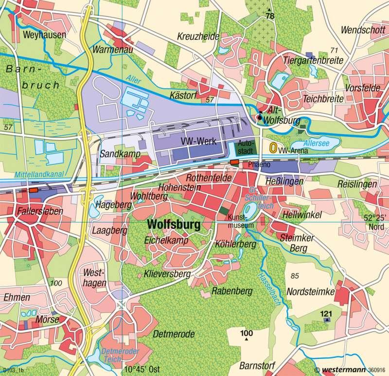 Wolfsburg Karte