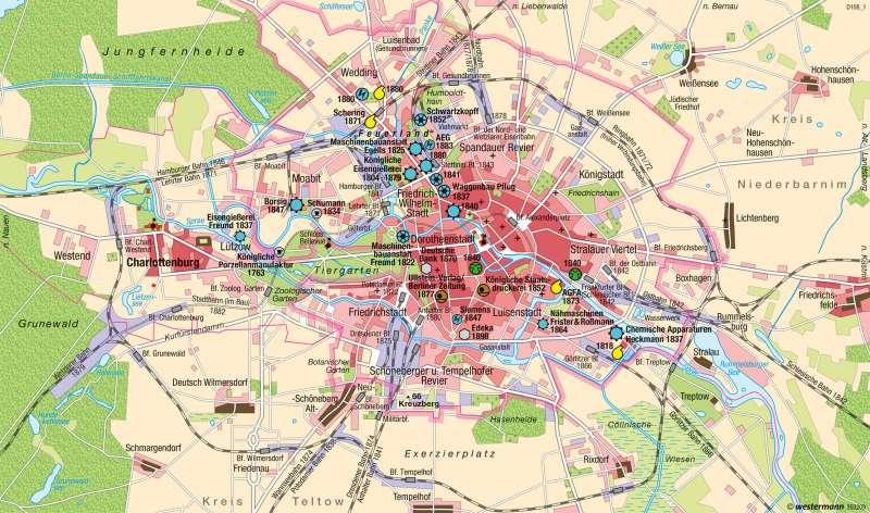 Berlin | Industriestadt 1840-1880 | Hauptstadt Berlin | Karte 38/1