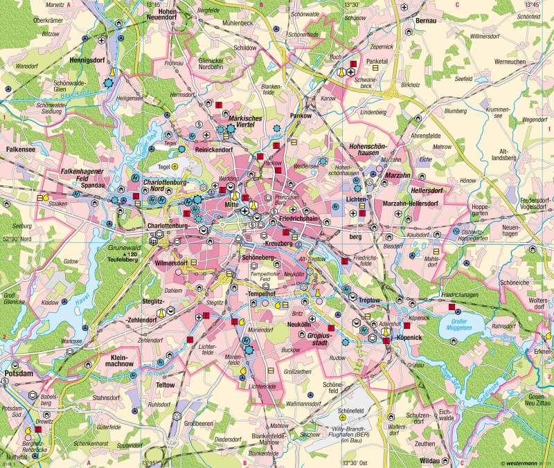 Berlin | Dienstleistungsstadt | Dienstleistungsmetropole | Karte 41/2