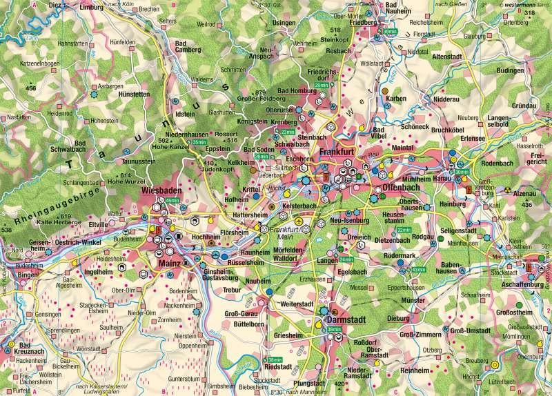 Rhein-Main | Wirtschaft | Dienstleistungsregion Rhein-Main | Karte 44/1